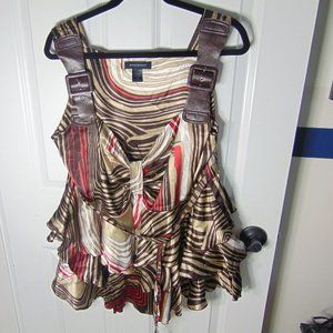 Ashley Stewart Multicolor Polyester Blouse